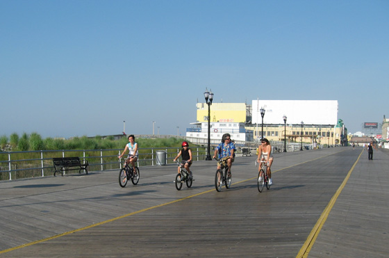 Bike Riding on the Atlantic City Boardwalk