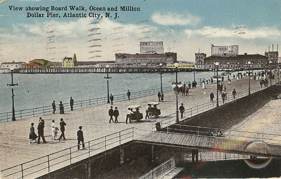 View of the Atlantic City Boardwalk
