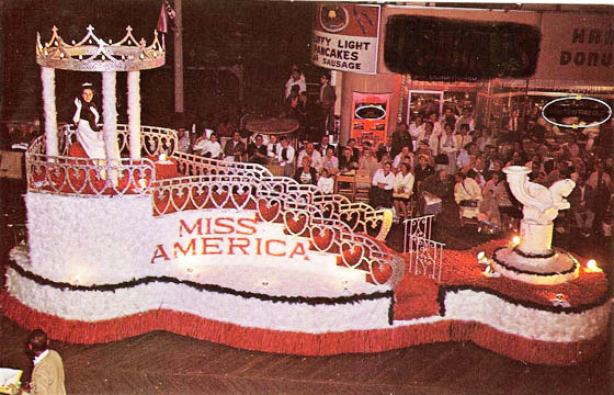Miss America Float on Atlantic City Boardwalk