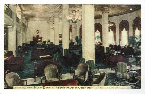 Atlantic City Dennis Hotel Lobby