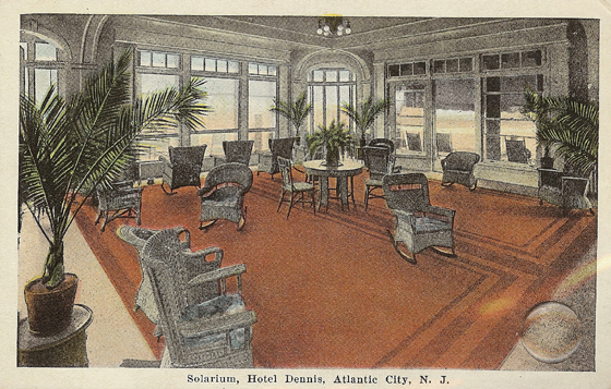 Atlantic City Dennis hotel Solarium