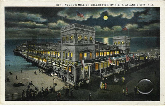 Young's Million Dollar Pier at Night