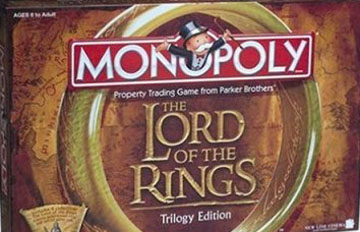 Lord Of Rings Monopoly
