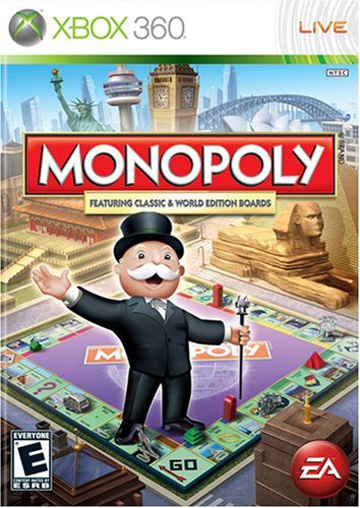 Monopoly Video Game for Xbox360