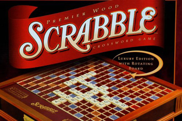 Wood Scrabble Game