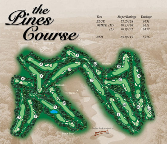 Seaview Pines Course Map
