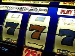 Three 7s on a slot machine