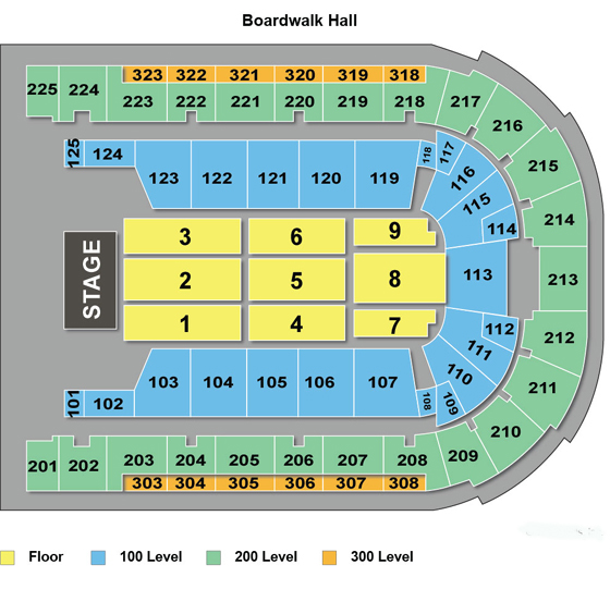 Boardwalk Hall Arena Seating