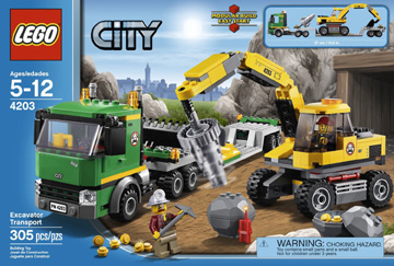 Lego City Excavator Transport