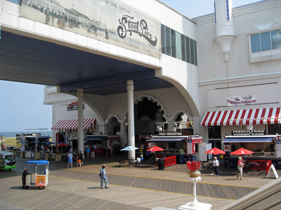 Steel Pier Boardwalk Entrance
